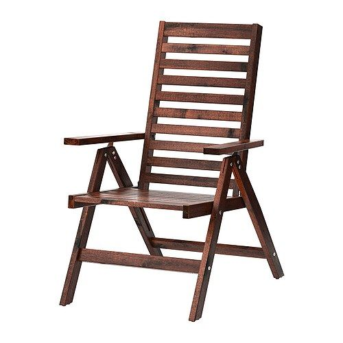 ÄPPLARÖ Reclining chair IKEA The finish is extra durable and able to withstand outdoor use for a longer period before it must be re-glazed. $60