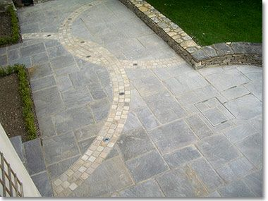 semi circle garden paving google search
