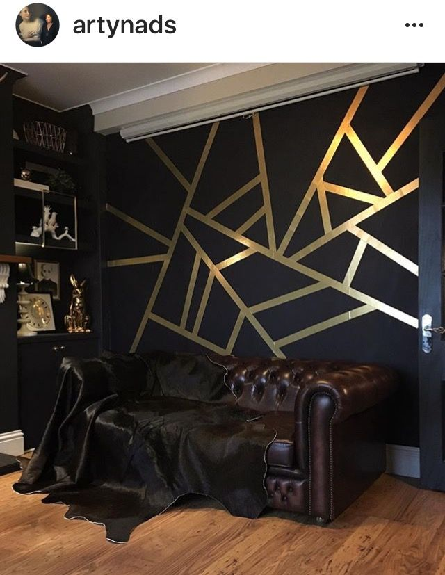 Black And Gold Wall Decor | #BlackandGoldWall