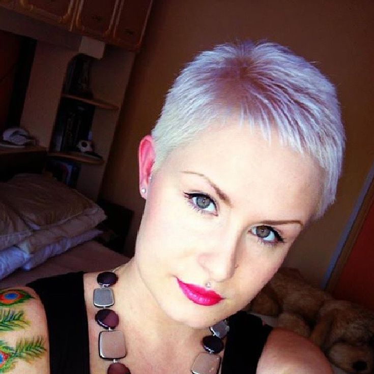 I buzzed my hair of just like this. Looks great in grey hair. Did the buzzing myself at home.