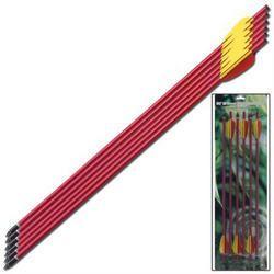 6 - Aluminum Crossbow Arrows MKAL20-6RD