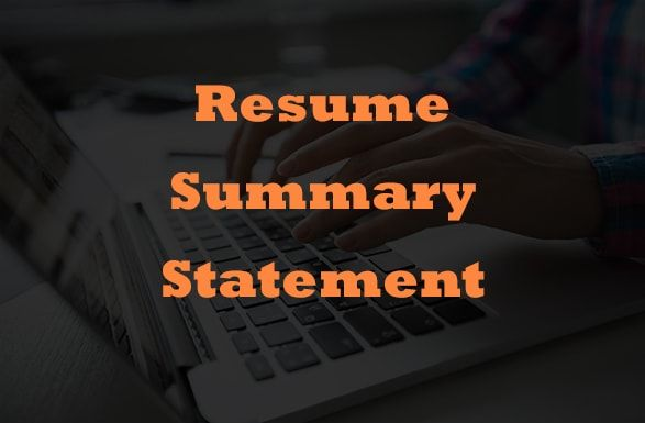 For many candidates, there is a confusion whether to useResume Summary Statementat the very start of their Resume or not. Why? Let me tell you !