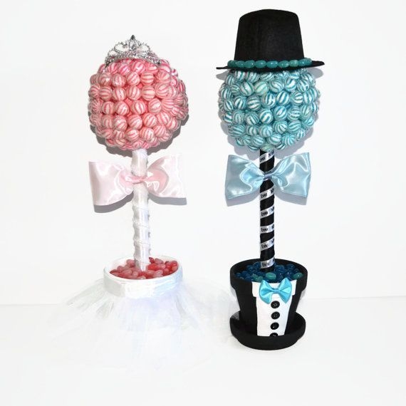 Lollipop Bride and Groom Topiaries Lollipop by EdibleWeddings, $89.99