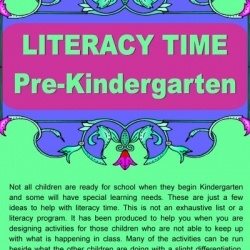 English ideas pre-Kindergarten Free resource