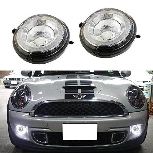 iJDMTOY Exact Fit High Power Halo Style LED Daytime Running Lights Fog Lamps Assembly For MINI Cooper R55 R56 R57 R58 R60 R61, etc - $159.99 + Free Shipping