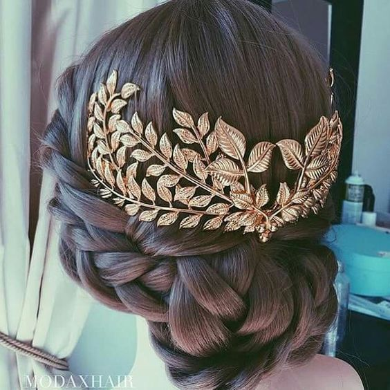 Wedding Hair inspired by Ancient Greece!