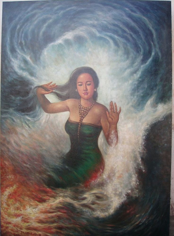 For sale | Queen of South Sea, Oil on canvas, 143 x 99 cm, IDR 4.000.000,-  / USD 308