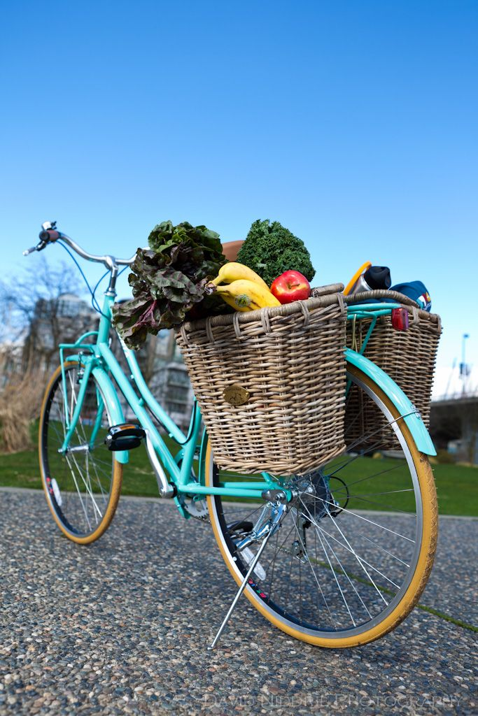 i want to live in a place where i can ride this bicycle to the store for fresh veggies..