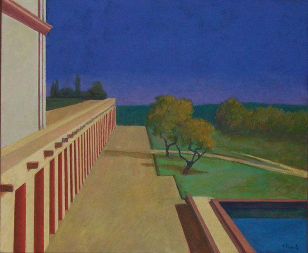 Fernando Puente. Óleo sobre lienzo. Una tarde infinita.