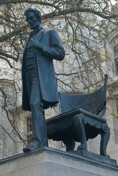 Saw this statue in London, Abraham Lincoln statue