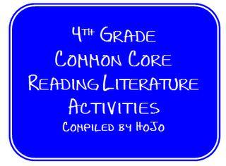 Hopkins' Hoppin' Happenings: HoJo's 4th Grade Common Core Reading Literature List
