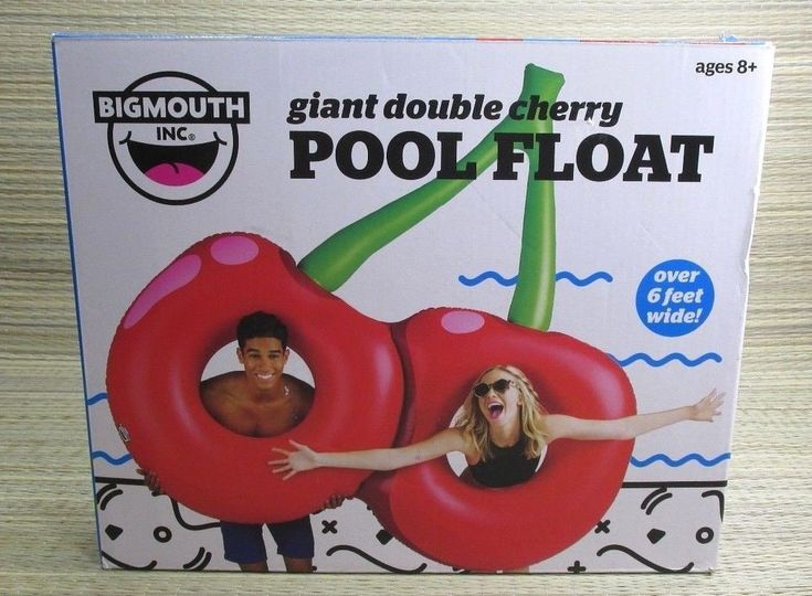 Big Mouth Giant Double Cherry Pool Float Swimming Water 2 Person Age 8+  #BigMouthToys