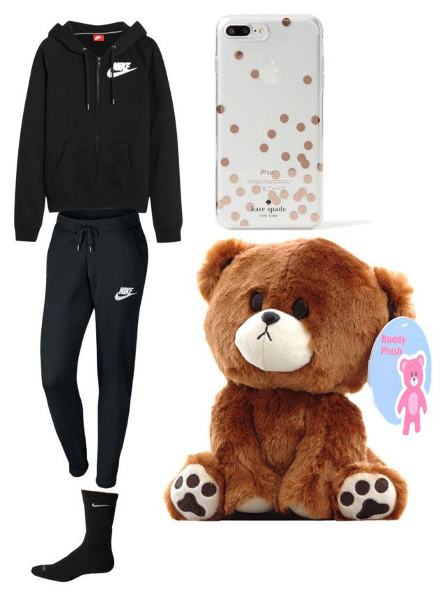 """""""Swollen Foot Days"""" by crushingholls on Polyvore featuring NIKE and Kate Spade"""