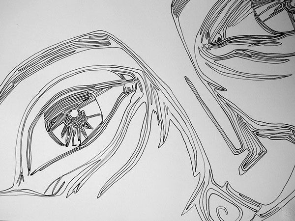 Single Line Art Project on Behance by Athanasia Kekebanou