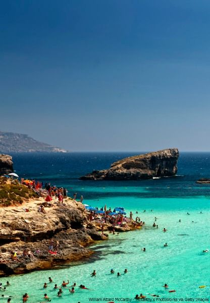 We've found paradise. It's on Comino Island in Malta.