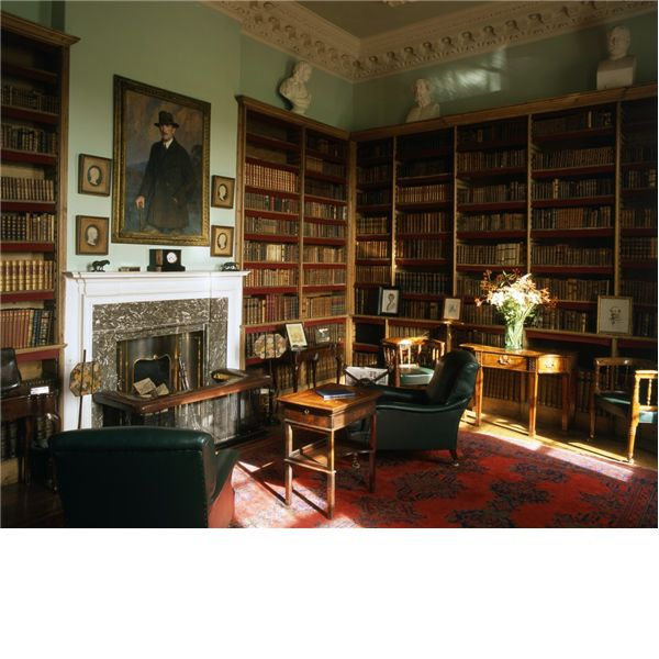 Library At Florence Court In Ireland The House Was Built