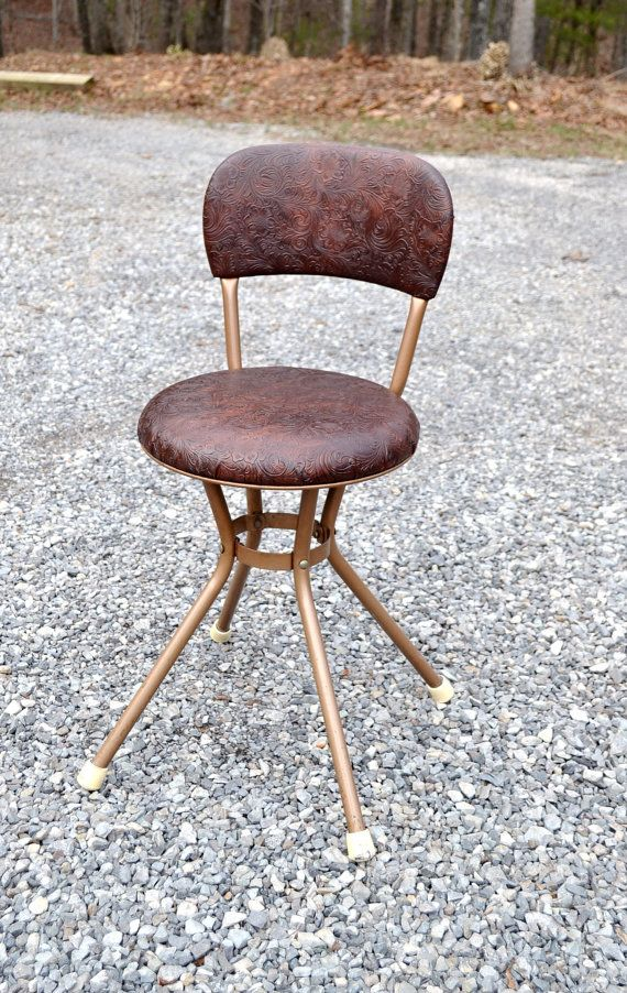 Vintage Cosco Swivel Kitchen Stool Chair Bronze by PanchosPorch  sc 1 st  Pinterest & 104 best antique cosco stools images on Pinterest | Costco Step ... islam-shia.org