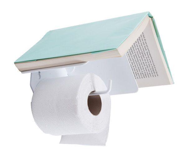 Bird house: toiletrolhouder en boekenplank in één