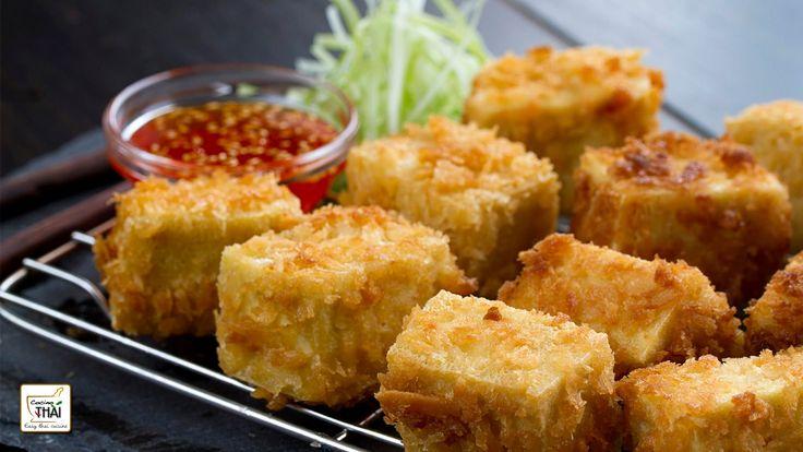 Tofu Frito con Salsa Agridulce de Pimiento rojo - Receta de Tofu ⎜Cocino...