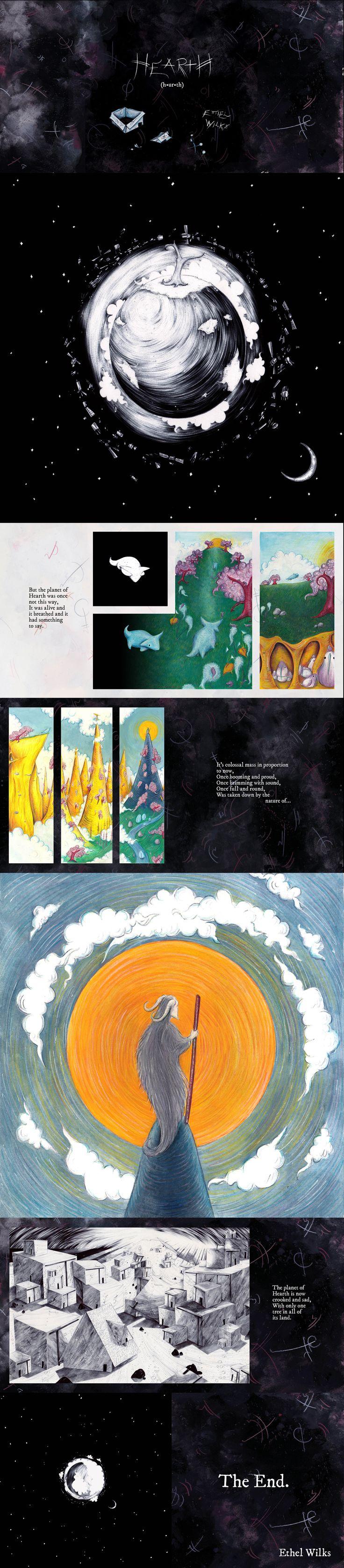 'Hearth (h•ur•th)' by Ethel Wilks  #illustration #picturebook #graphicnovel #art #drseuss #shauntan #shauntan #gouache #biro #childrensbook