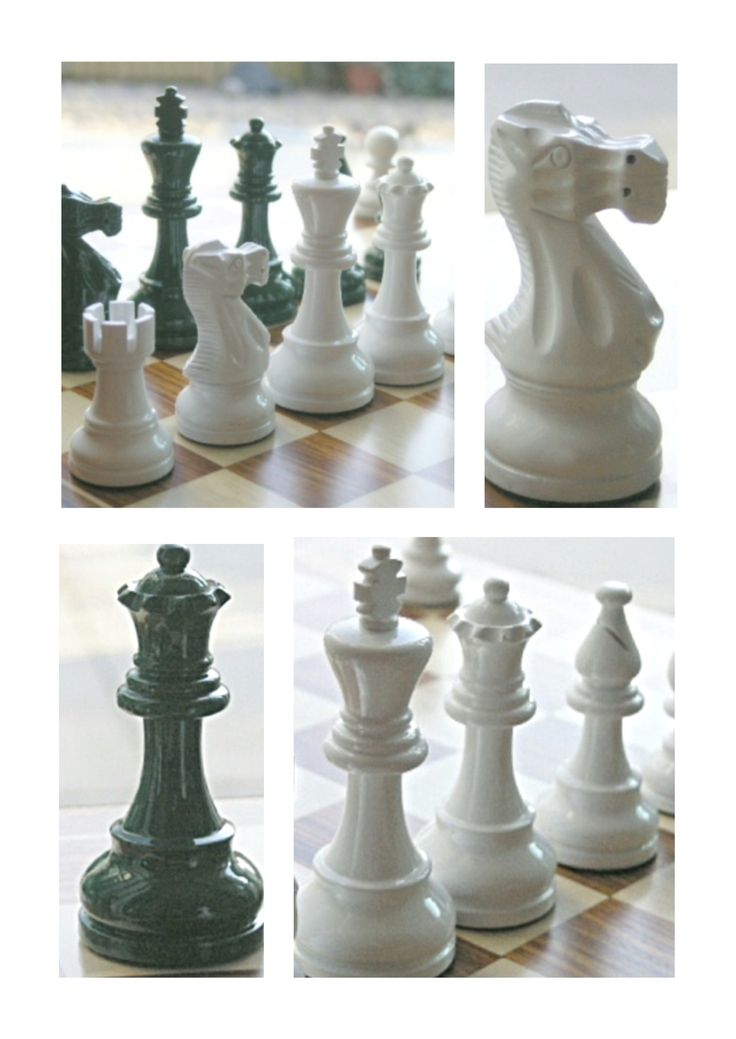 American Staunton Chess Set In Dark Green And White. Traditional In Shape  But Not In Colour. Classic Clean Simple Lines. A Beautiful Wooden Chess Set  In ...