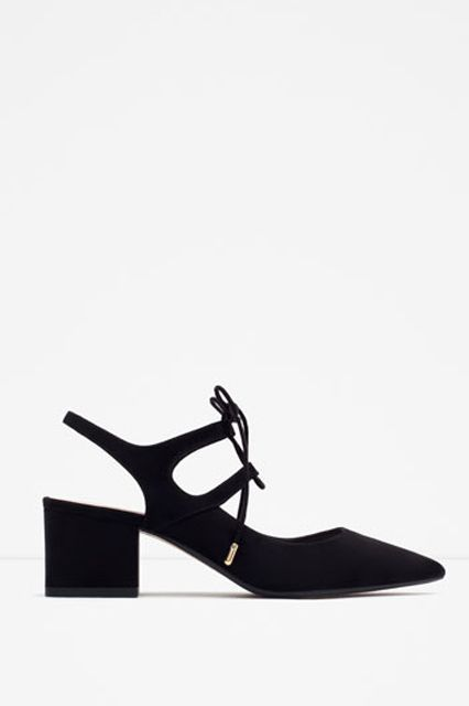 This Walkable Heel Trend Will Replace Your Commuter Shoes #refinery29  http://www.refinery29.com/slingback-shoes#slide-3  Suede kicks can upgrade any look.Zara High Heel Slingback Shoes, $39.90, available at Zara....