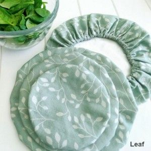 Biome: 4MyEarth food cover set (4) - leaf (made in India)