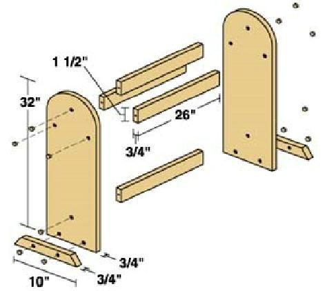 Quilt Rack Plans - Downloadable Free Plans