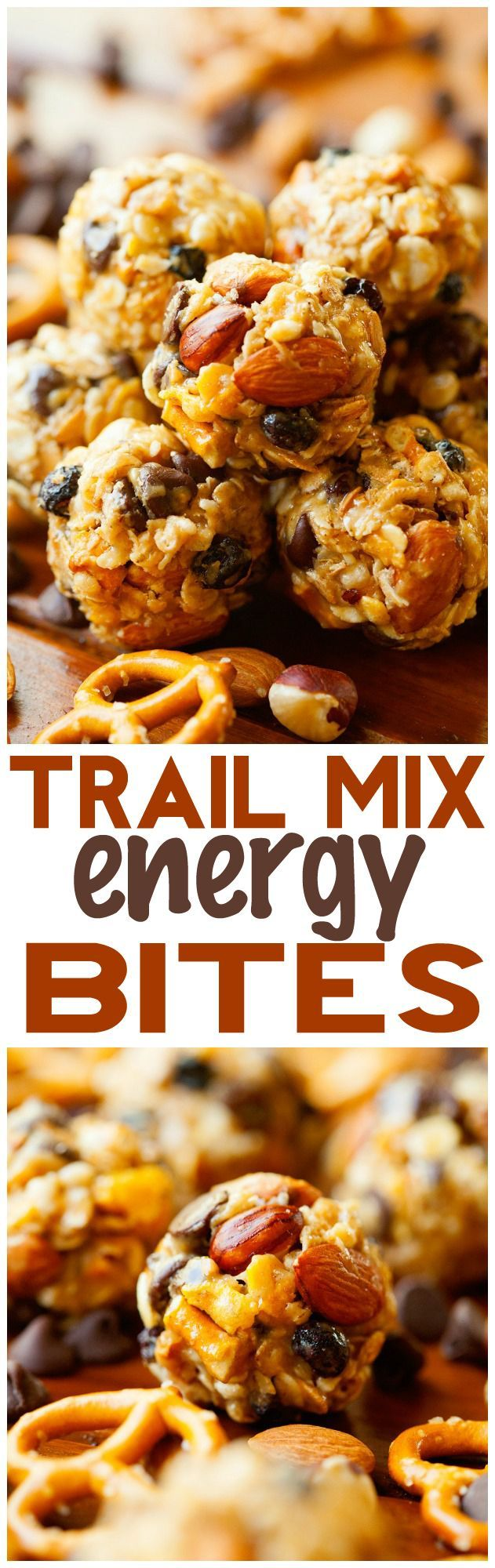 Trail Mix Energy Bites... These are SO easy to make and are a healthy and delicious snack to have on hand!