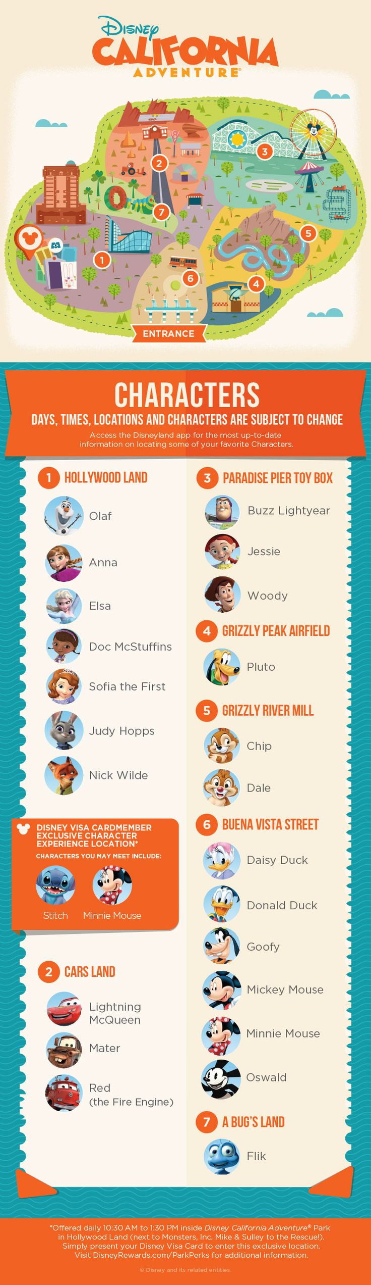 Learn about the Characters you can meet at Disney California Adventure® Park and where to find them with our guide!