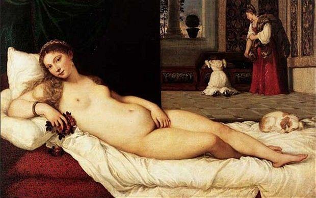 """Tiziano's """"Venere di Urbino"""""""