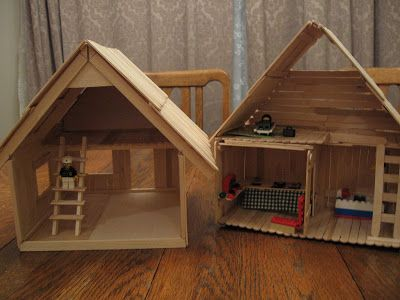 how to make a fire truck with a popsicle sticks