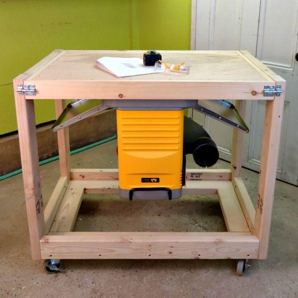 Diy Flip Top Workbench Cart Free Plans Saws On Skates Workbench Workbench Plans Diy Diy Workbench