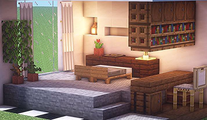 Pin On Mommy Minecraft Bedroom Minecraft Interior Design Minecraft Room