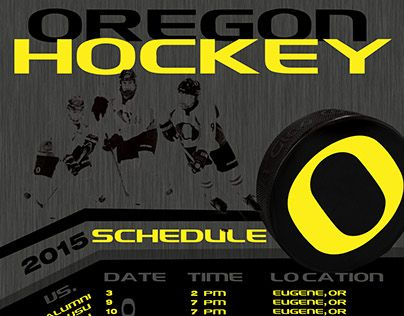 "Check out new work on my @Behance portfolio: ""Oregon Ducks Hockey Schedule"" http://be.net/gallery/32394409/Oregon-Ducks-Hockey-Schedule"
