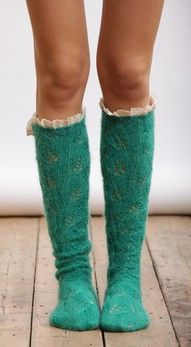 Cutest boot socks. turquoise lace bootsocks fashionforward trendy style