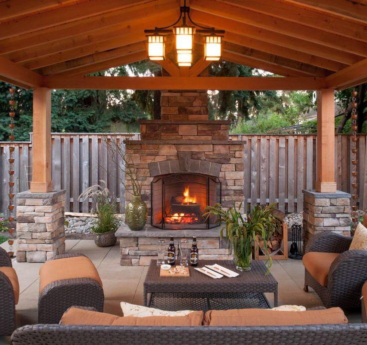 25+ best covered patios ideas on pinterest | outdoor covered ... - Patio With Fireplace Ideas