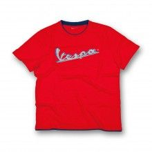 #Vespa Original #Tshirt: slub cotton jersey with logo Vespa print in high density. Customized Vespa logo inside. Sizes: S to XXXL. Discover more!
