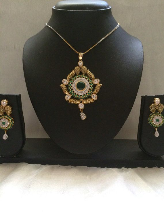 Jadau Necklace Navratan Necklace Indian Bridal Jewelry by MahrukhD