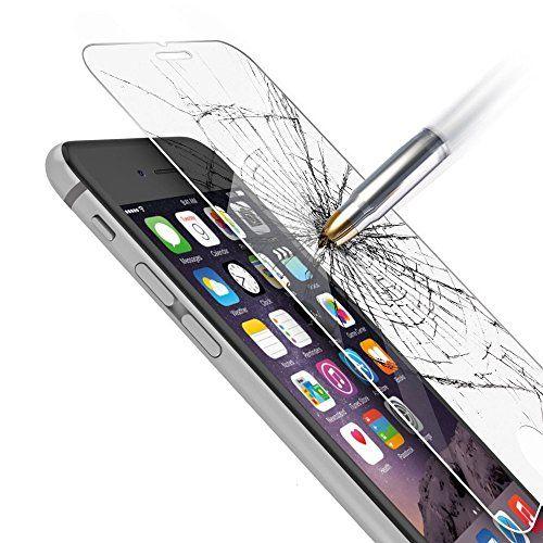 Film vitre de protection écran iPhone 6/6S ( 4,7 pouces) en verre trempé haute transparence et ultra résistant (incassable, inrayable 9H)…