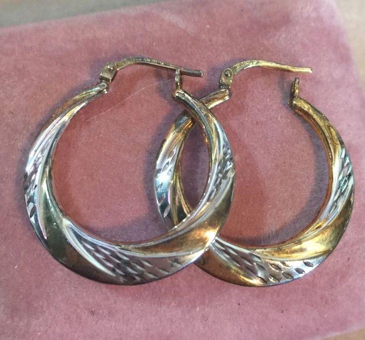 Beautiful Etched 10k Gold And 925 Sterling Silver MOM JORDAN Earrings | Jewelry & Watches, Fine Jewelry, Fine Earrings | eBay!