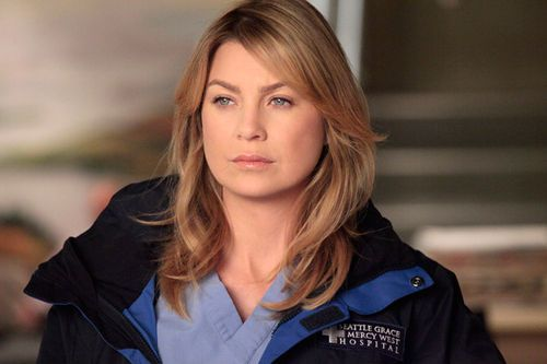ellen pompeo as Meredith grey - still with the perfect hair!!
