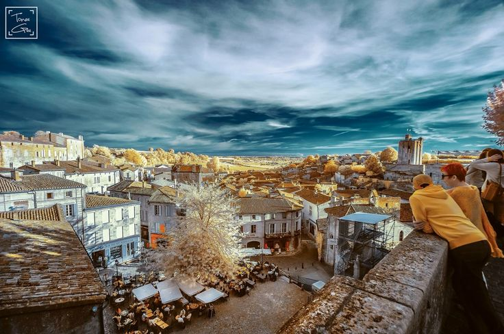 Infrared of Saint-Emilion, France.