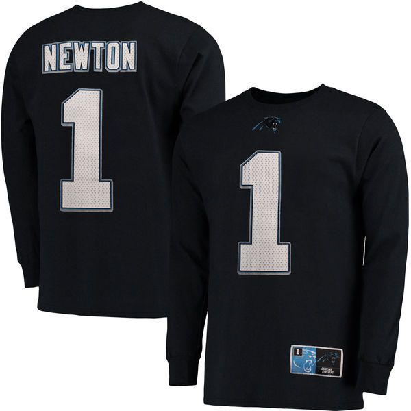 Cam Newton Carolina Panthers Majestic Big & Tall Eligible Receiver Name & Number Long Sleeve T-Shirt - Black - $39.99