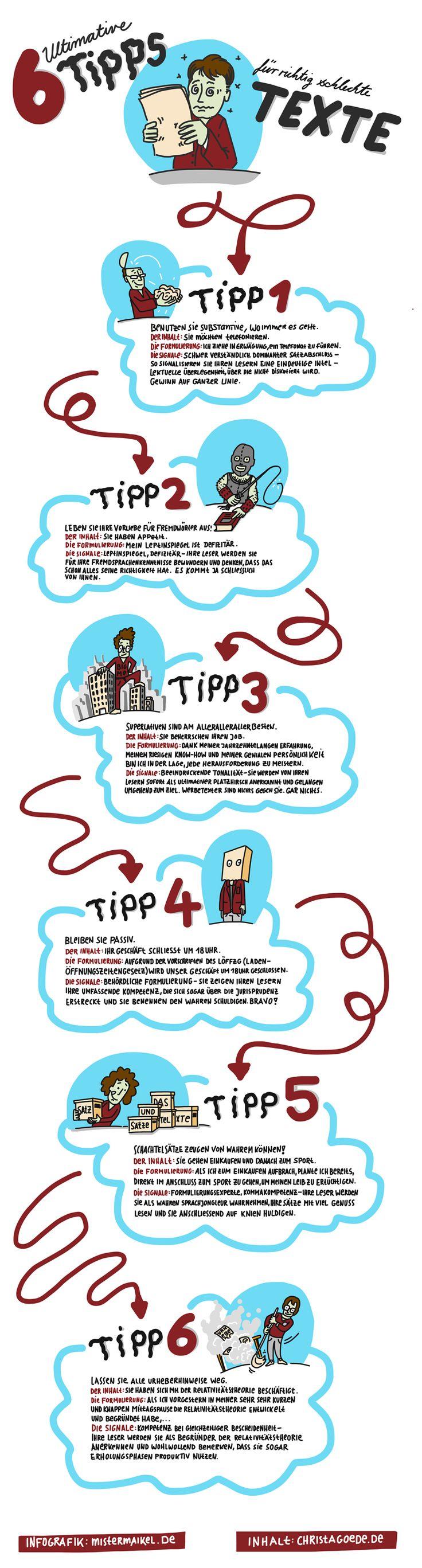 6 Tipps für richtig schlechte Texte