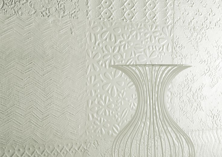 SWEET REVOLUTION by Fioranese #texture #pattern #white #patchwork #porcelain #tile #cersaie