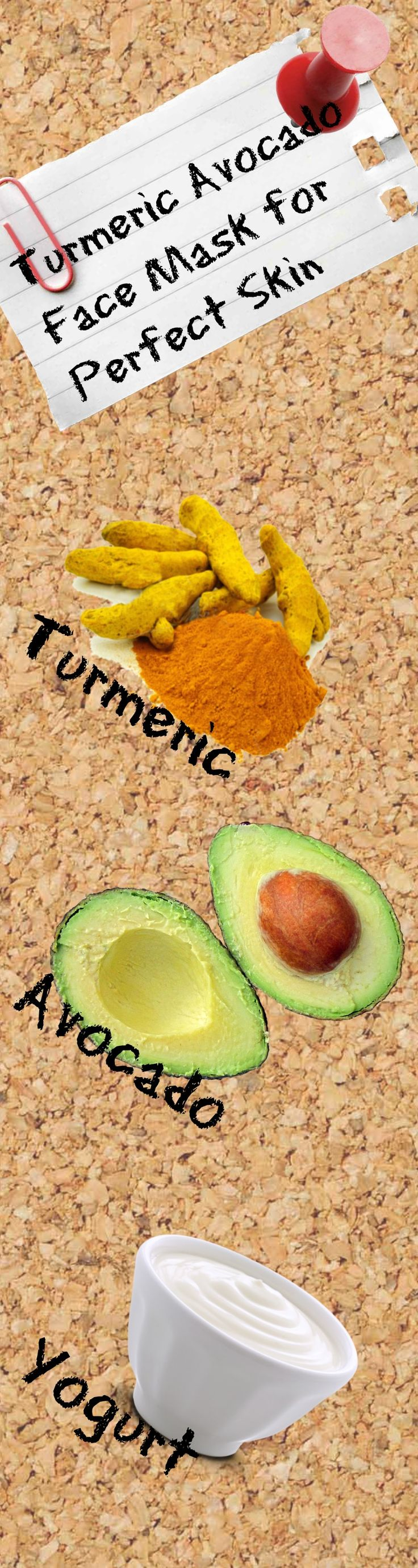 Combine turmeric, avocado, and yogurt to form a superfood face mask for perfect skin! Love this mask and the way my skin feels afterwards!