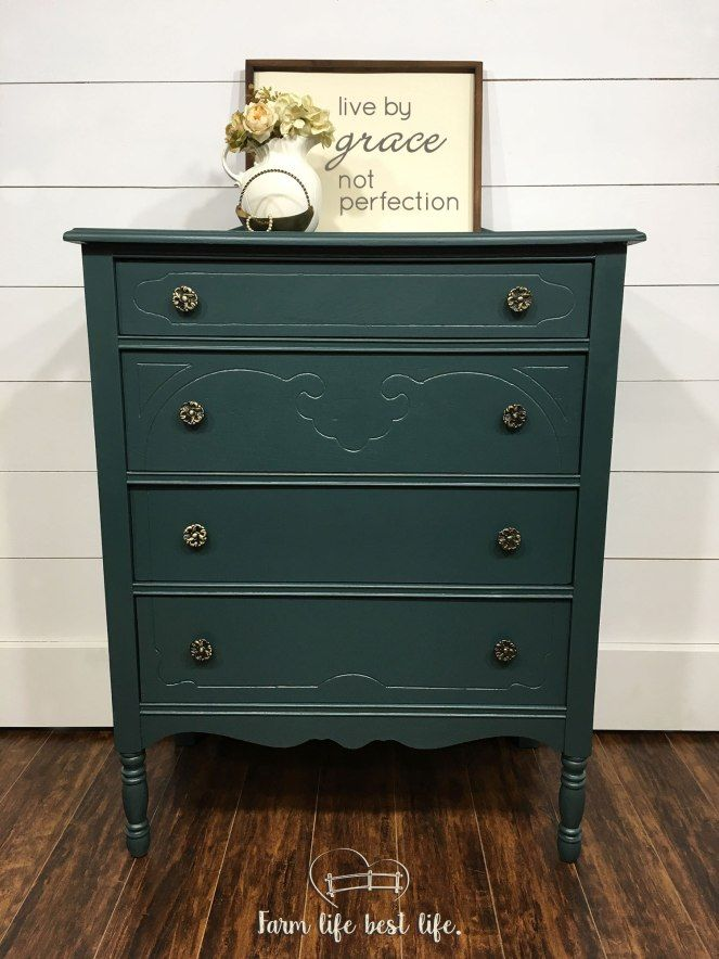 Teal Painted Dresser In The Color Jitterbug By Country Chic Paint Eco Friendly Diy Furniture And Home Deco Country Chic Paint Teal Painted Dressers Furniture