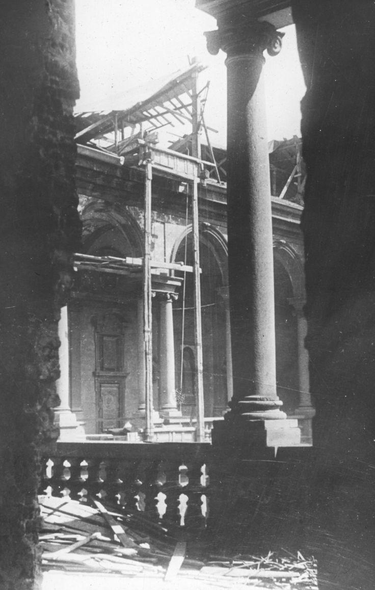 Bombardamento della Pinacoteca II guerra mondiale. #storia #storiadibrera #arte #cultura #guerramondiale
