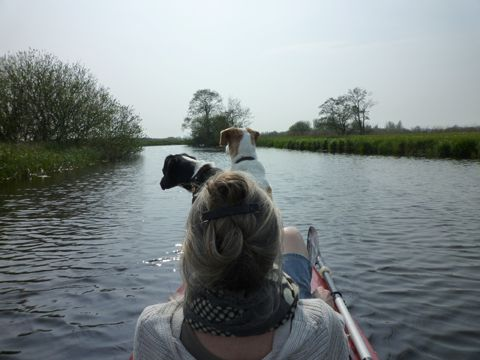 Me and the dogs in the kayak ...